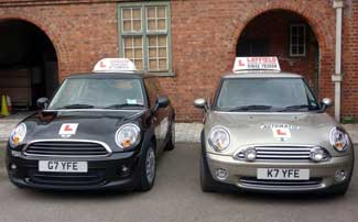 layfield school of motoring Yarm, our two mini cars automatic and manual